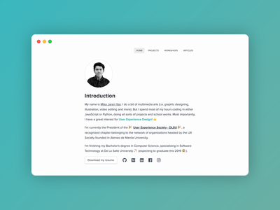 My Design Portfolio Website