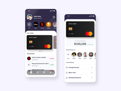 Payment App colorful paypal payment app payment pay app design ux ui app ui credit cards ui app upi banks online payments card design onlinepay cards card design