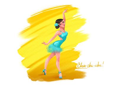 Cha-cha-cha! latino girl dance cha-cha-cha
