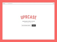 Uprcase Landing Page