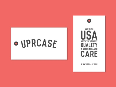 Uprcase Hang Tag made in the usa hang tag tag flat uprcase clothing packaging