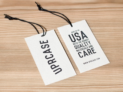Uprcase Hang Tag packaging clothing uprcase flat tag hang tag made in the usa