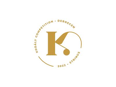 Kodály Competition Debrecen – logo branding and identity identity design brand identity brand design brand stamp design stamp circle logo hungary hungarian branding vector illustrator logo design logo