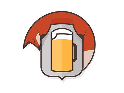 The Drunken Fox drinking drink practice red beer illustrator drunken drunk fox pub fictional logo