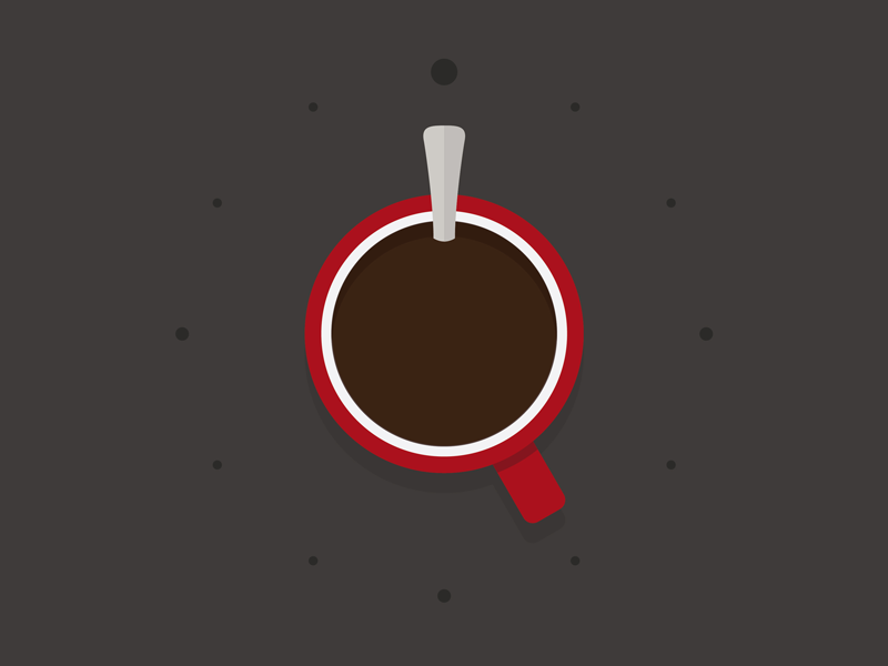 5AM Coffee cup illustration illustrator early morning five clock red brown coffee morning