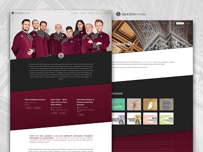 Saint Ephraim Male Choir website ux ui saint musician music concerts parallax red choir male sitebuild webdesign