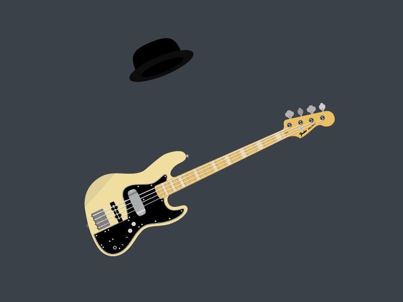 Marcus Miller practice daily hat guitar bass illustrator vector illsutration marcus miller