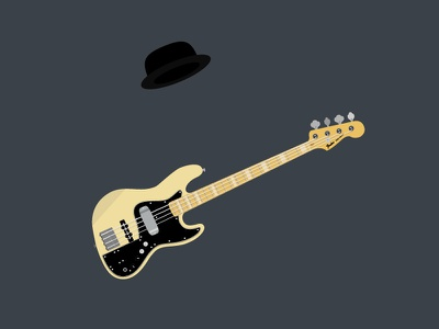 Marcus Miller practice daily hat guitar bass illustrator vector illsutration marcus miller