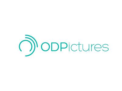ODPictures logo circles cyan design vector logo illustrator