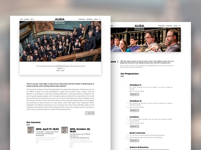 Aura Musicale - website