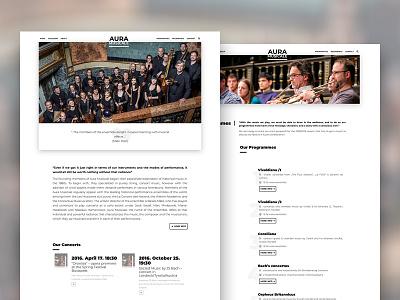 Aura Musicale - website wordpress bootstrap 4 hungarian hungary music web ux ui typography minimal simple blackwhite design webdesign