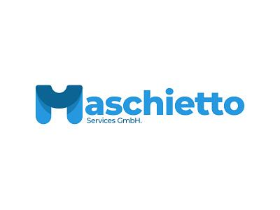 Maschietto - logo v01 glass water blue design typography m logo logo alphabet typo logo vector illustrator branding logo
