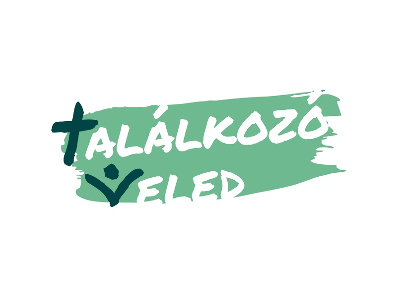 Találkozó Veled - final logo green christ cross typography hungary meeting with you meeting meet evangelical christian logo luther lutheran christian design christian hungarian design branding vector logo illustrator