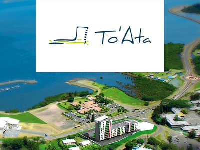To Ata modern architecture ocean sea noumea caledonie nouvelle caledonia new pacific island real estate realestate real estate immobilier residence illustration design logo