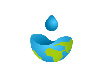 Earth drop graphic design wave h2o hydrolic logo vector ai illustration precious planet blue spill liquid africa ocean water drop water drop earth