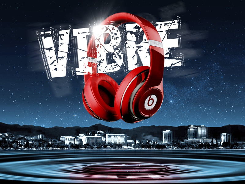 Beats Vibration Night beats dr dre vibre vibrations vibes water drop ripples headphones music loud
