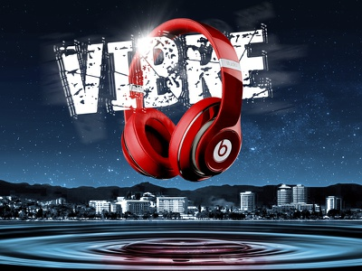 Beats Vibration Night beats dr dre vibre vibrations vibes water drop ripples headphones music loud