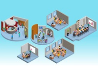 Coworking rooms for rent