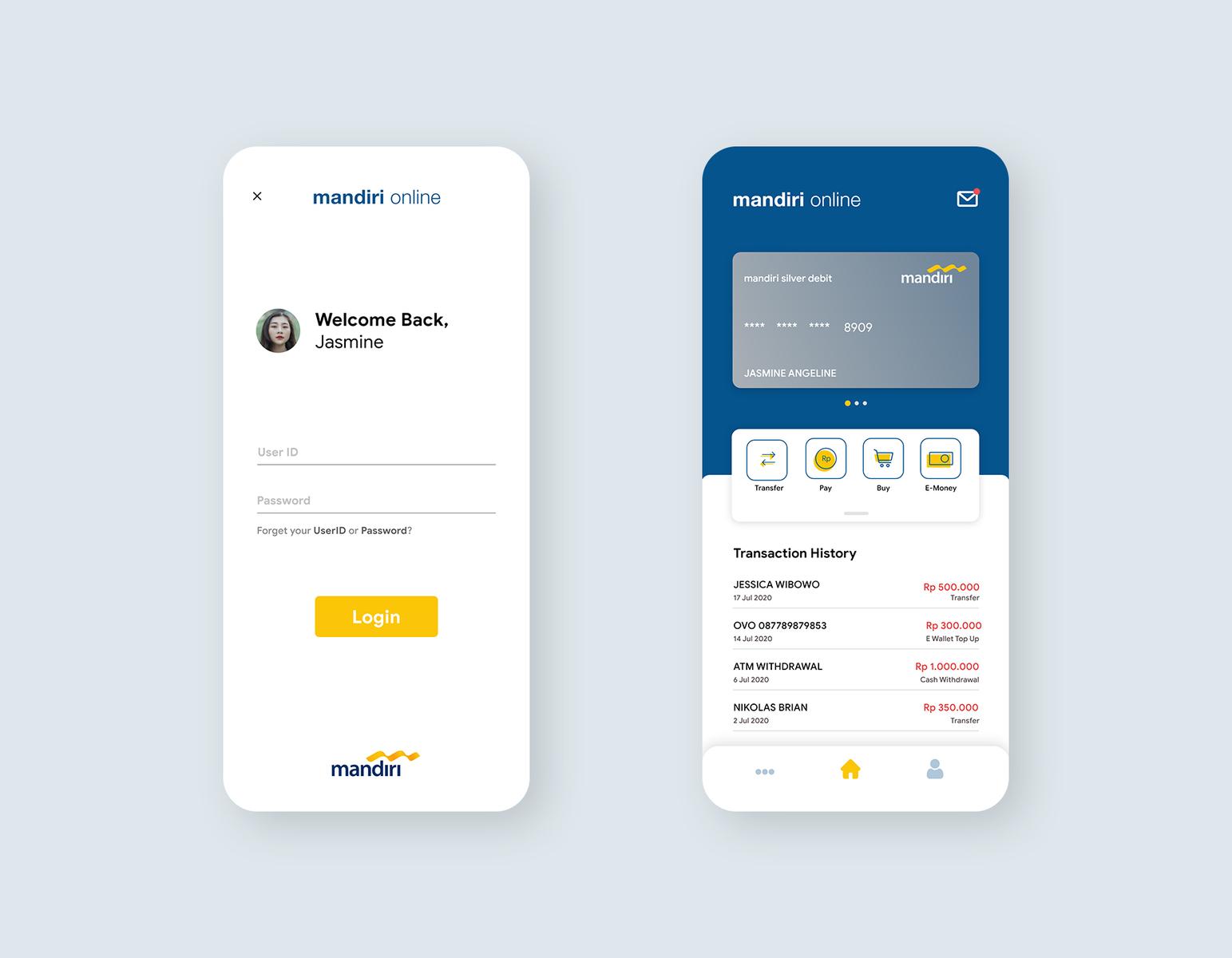 Mandiri Online App Redesign By Fadhil Ezar Rahman On Dribbble