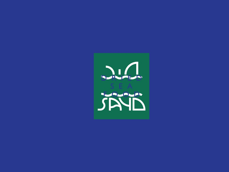 Sayd Logo shark custom font custom typography custom type fish waves arabic logo brand branding arabic typography logo