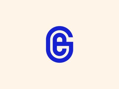 G+E Monogram badge typography monogram