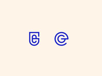 G+E Monogram Options mark brand brandmark e g badge typography monogram