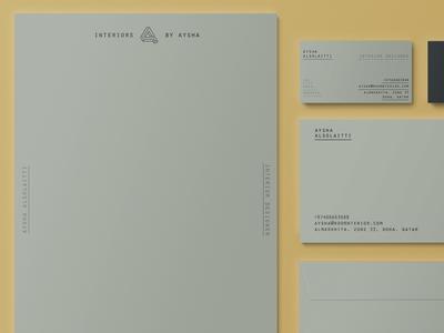 Stationery typography doha qatar designer logo interior branding stationery