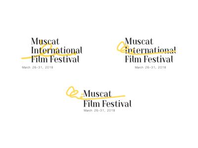 MIFF 2018 - Rejected proposal music branding arabic typography logo festival film oman muscat miff