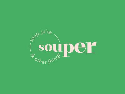 souper, soup & juice bar logo