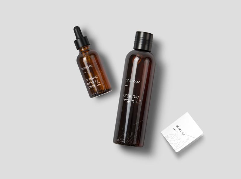 Cosmetic Oil Packaging minimal brand cosmetics serum oil prickly pear argan cosmetic packaging cosmetic