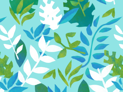 Cut Paper Tropical Leaves