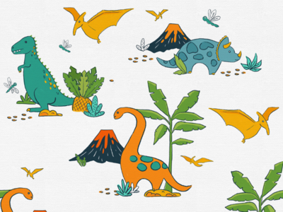 Quirky Dinosaur Toile