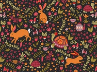 Tortoise and the Hare Pattern in red