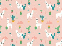 Llama Summer in Dusty Pink