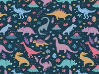 Kawaii Dinosaur Pattern