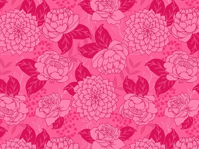 Flower Pattern in Magenta and Pink