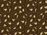 DnD Dice Pattern in Brown + Gold