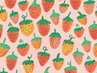 Painted Strawberry Pattern