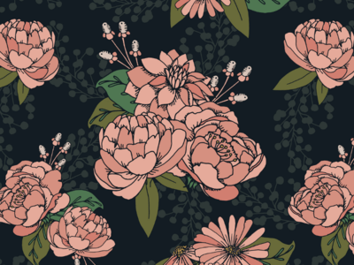 Moody Florals in Coral