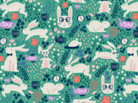 Hipster Bunny Pattern
