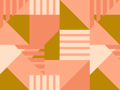 Abstract Geometric Pattern in Pink and Gold