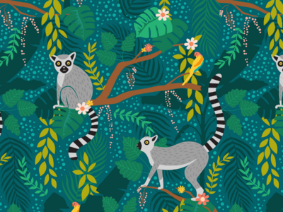 Lemurs in a Jungle