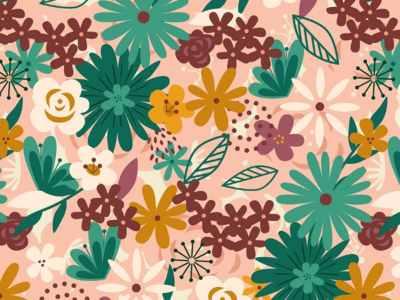 Floral Explosion Pattern