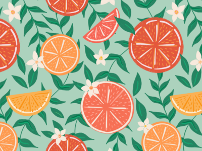 Summery Citrus Pattern