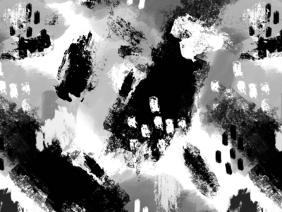 Black and White Painterly Pattern