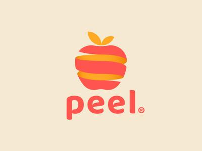 Peel geometry app date fruit peel apple logo