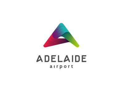 Adelaide airport logo mark airport boomerang abstract