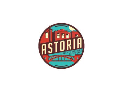 Astoria logo mark coffee new york