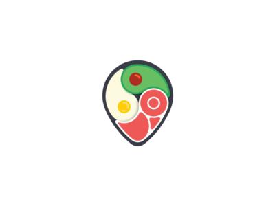 Keto pointer pin search map pointer keto sign mark logo