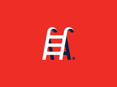 Stepwise Cane. cane ladder stairs stepwise mark logo